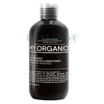 Органічний кондиціонер PRO-KERATIN для глибокого живлення з оліями аргана, авокадо