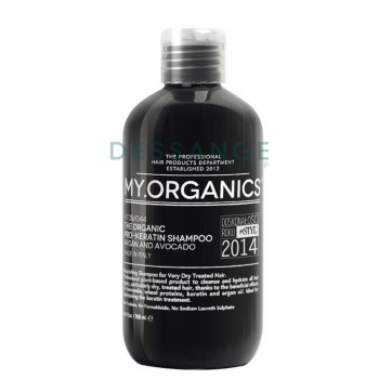 Органічний шампунь для підтримки кератинового лікування з екстрактом шовку